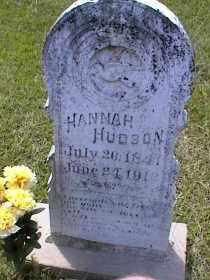 HUDSON, HANNAH ROSEANNA - Bradley County, Arkansas | HANNAH ROSEANNA HUDSON - Arkansas Gravestone Photos