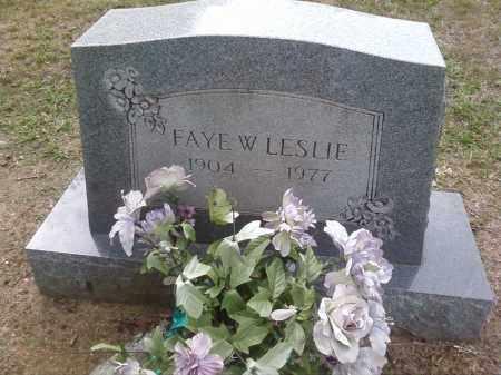 LESLIE, FAYE W. - Bradley County, Arkansas | FAYE W. LESLIE - Arkansas Gravestone Photos