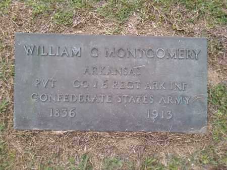 MONTGOMERY (VETERAN CSA), WILLIAM C. - Bradley County, Arkansas | WILLIAM C. MONTGOMERY (VETERAN CSA) - Arkansas Gravestone Photos