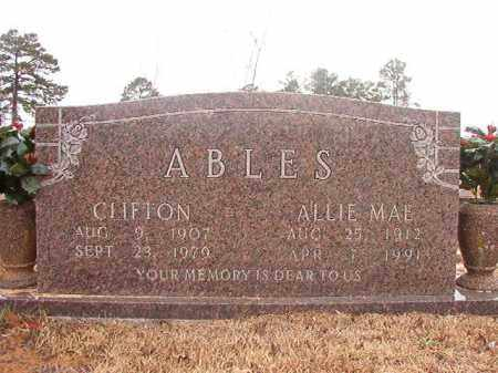 ABLES, ALLIE MAE - Calhoun County, Arkansas | ALLIE MAE ABLES - Arkansas Gravestone Photos