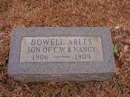 ABLES, DOWELL - Calhoun County, Arkansas | DOWELL ABLES - Arkansas Gravestone Photos