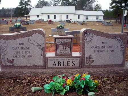 ABLES, DANA HASKEL - Calhoun County, Arkansas | DANA HASKEL ABLES - Arkansas Gravestone Photos