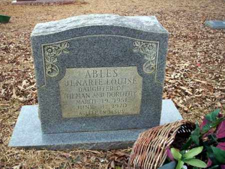 ABLES, JENARIE LOUISE - Calhoun County, Arkansas | JENARIE LOUISE ABLES - Arkansas Gravestone Photos