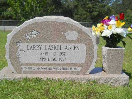 ABLES, LARRY HASKEL - Calhoun County, Arkansas | LARRY HASKEL ABLES - Arkansas Gravestone Photos
