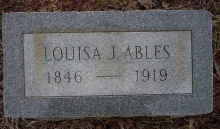 ABLES, LOUISA JANE - Calhoun County, Arkansas | LOUISA JANE ABLES - Arkansas Gravestone Photos