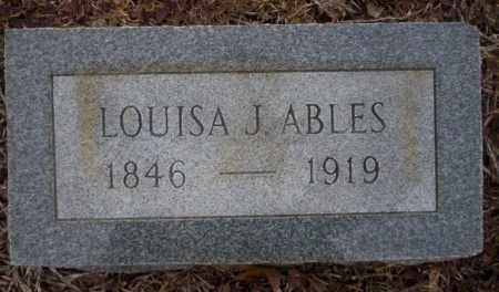 ABLES, LOUISA JANE - Calhoun County, Arkansas | LOUISA JANE ABLES - Arkansas Gravestone Photos