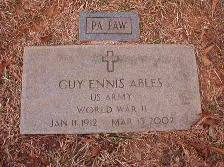 ABLES (VETERAN WWII), GUY ENNIS - Calhoun County, Arkansas | GUY ENNIS ABLES (VETERAN WWII) - Arkansas Gravestone Photos