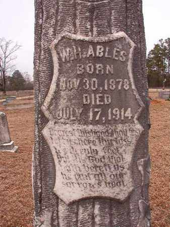 ABLES, W H - Calhoun County, Arkansas | W H ABLES - Arkansas Gravestone Photos