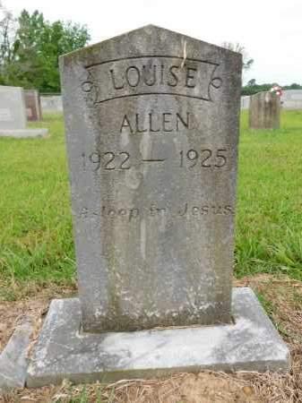 ALLEN, LOUISE - Calhoun County, Arkansas | LOUISE ALLEN - Arkansas Gravestone Photos