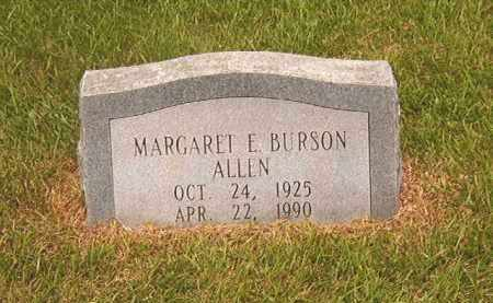 BURSON ALLEN, MARGARET E - Calhoun County, Arkansas | MARGARET E BURSON ALLEN - Arkansas Gravestone Photos