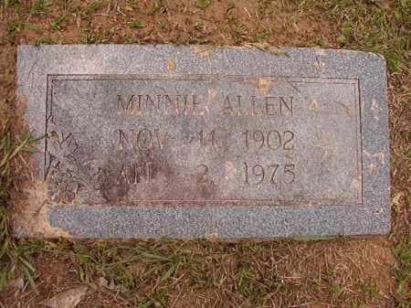 ALLEN, MINNIE - Calhoun County, Arkansas | MINNIE ALLEN - Arkansas Gravestone Photos