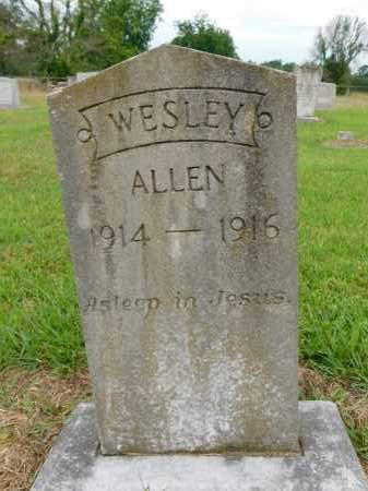ALLEN, WESLEY - Calhoun County, Arkansas | WESLEY ALLEN - Arkansas Gravestone Photos