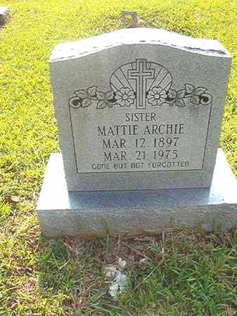 ARCHIE, MATTIE - Calhoun County, Arkansas | MATTIE ARCHIE - Arkansas Gravestone Photos
