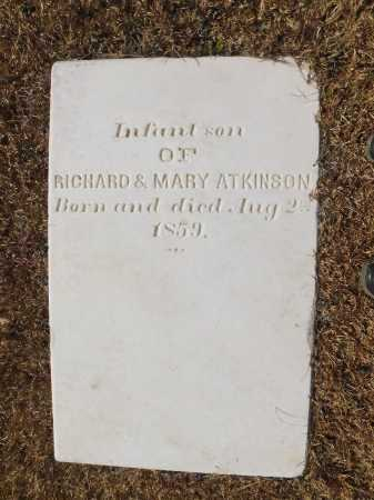 ATKINSON, INFANT SON - Calhoun County, Arkansas | INFANT SON ATKINSON - Arkansas Gravestone Photos