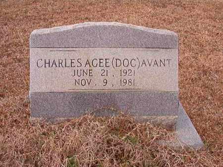 AVANT, CHARLES AGEE (DOC) - Calhoun County, Arkansas | CHARLES AGEE (DOC) AVANT - Arkansas Gravestone Photos