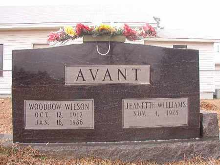 AVANT, WOODROW WILSON - Calhoun County, Arkansas | WOODROW WILSON AVANT - Arkansas Gravestone Photos
