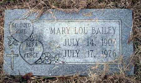 BAILEY, MARY LOU - Calhoun County, Arkansas | MARY LOU BAILEY - Arkansas Gravestone Photos