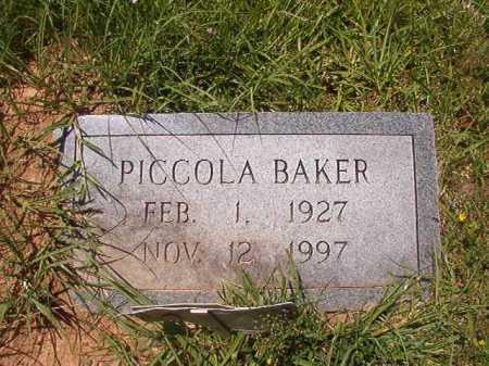 BAKER, PICCOLA - Calhoun County, Arkansas | PICCOLA BAKER - Arkansas Gravestone Photos