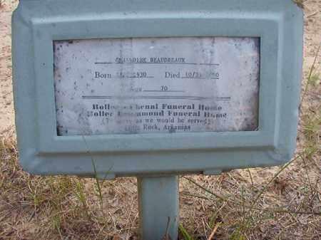 BEAUDREAUX, GERALDINE - Calhoun County, Arkansas | GERALDINE BEAUDREAUX - Arkansas Gravestone Photos