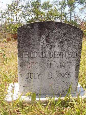 BENFORD, FRED D - Calhoun County, Arkansas | FRED D BENFORD - Arkansas Gravestone Photos