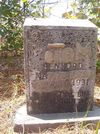 BENFORD, TOM - Calhoun County, Arkansas | TOM BENFORD - Arkansas Gravestone Photos
