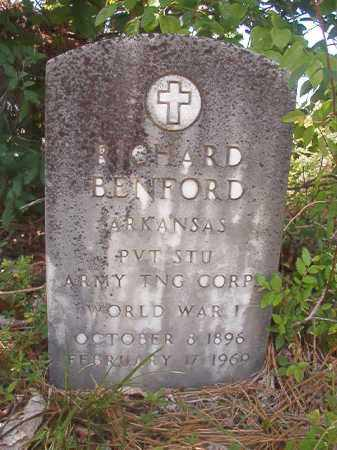 BENFORD (VETERAN WWI), RICHARD - Calhoun County, Arkansas | RICHARD BENFORD (VETERAN WWI) - Arkansas Gravestone Photos