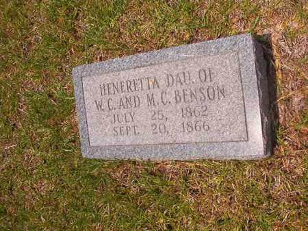 BENSON, HENERETTA - Calhoun County, Arkansas | HENERETTA BENSON - Arkansas Gravestone Photos