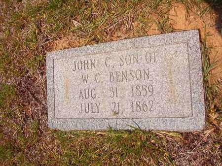 BENSON, JOHN C - Calhoun County, Arkansas | JOHN C BENSON - Arkansas Gravestone Photos