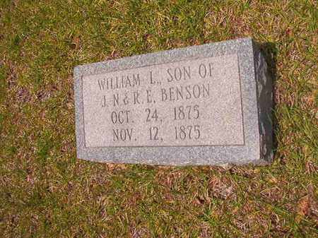 BENSON, WILLIAM L - Calhoun County, Arkansas | WILLIAM L BENSON - Arkansas Gravestone Photos