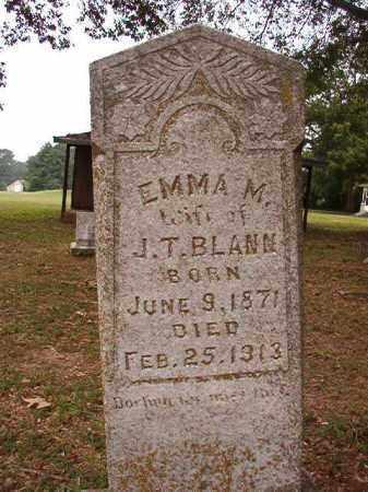 BLANN, EMMA M - Calhoun County, Arkansas | EMMA M BLANN - Arkansas Gravestone Photos