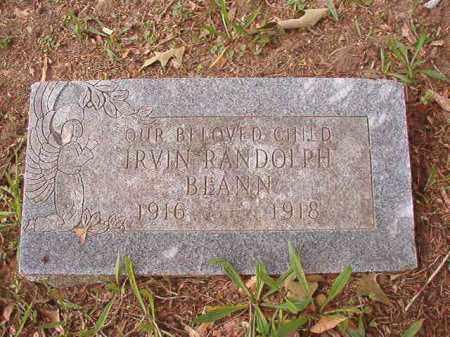 BLANN, IRVIN RANDOLPH - Calhoun County, Arkansas | IRVIN RANDOLPH BLANN - Arkansas Gravestone Photos