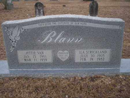 BLANN, JETTIE VAN - Calhoun County, Arkansas | JETTIE VAN BLANN - Arkansas Gravestone Photos