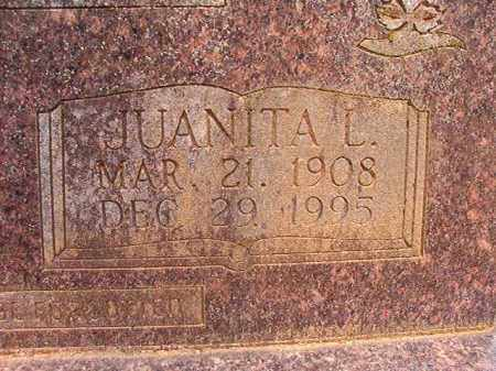 BLANN, JUANITA L (CLOSEUP) - Calhoun County, Arkansas | JUANITA L (CLOSEUP) BLANN - Arkansas Gravestone Photos