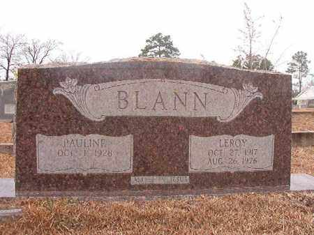 BLANN, LEROY - Calhoun County, Arkansas | LEROY BLANN - Arkansas Gravestone Photos