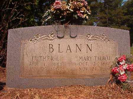 TALBOT BLANN, MARY - Calhoun County, Arkansas | MARY TALBOT BLANN - Arkansas Gravestone Photos