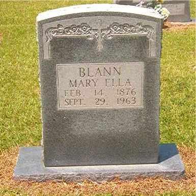 BLANN, MARY ELLA - Calhoun County, Arkansas | MARY ELLA BLANN - Arkansas Gravestone Photos