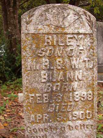 BLANN, RILEY - Calhoun County, Arkansas | RILEY BLANN - Arkansas Gravestone Photos