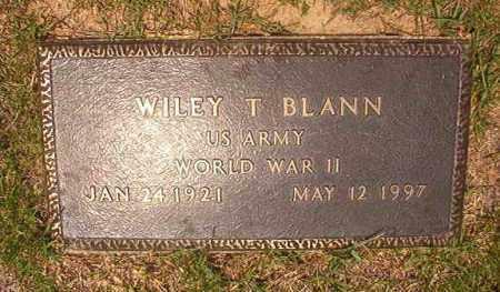 BLANN (VETERAN WWII), WILEY T - Calhoun County, Arkansas | WILEY T BLANN (VETERAN WWII) - Arkansas Gravestone Photos