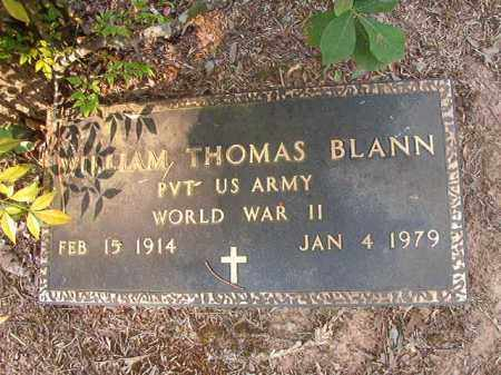 BLANN (VETERAN WWII), WILLIAM THOMAS - Calhoun County, Arkansas | WILLIAM THOMAS BLANN (VETERAN WWII) - Arkansas Gravestone Photos