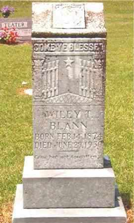 BLANN, WILEY T - Calhoun County, Arkansas | WILEY T BLANN - Arkansas Gravestone Photos