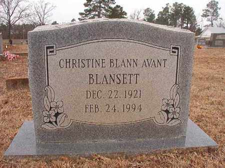 BLANSETT, CHRISTINE - Calhoun County, Arkansas | CHRISTINE BLANSETT - Arkansas Gravestone Photos
