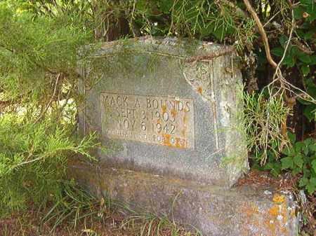 BOUNDS, MACK A - Calhoun County, Arkansas   MACK A BOUNDS - Arkansas Gravestone Photos