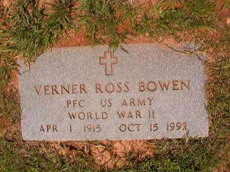 BOWEN (VETERAN WWII), VERNER ROSS - Calhoun County, Arkansas | VERNER ROSS BOWEN (VETERAN WWII) - Arkansas Gravestone Photos