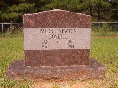 NEWTON BOYETTE, PALOSE - Calhoun County, Arkansas | PALOSE NEWTON BOYETTE - Arkansas Gravestone Photos