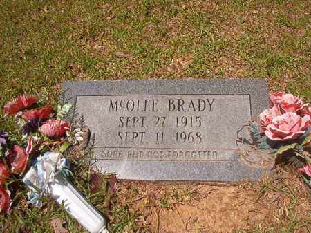 BRADY, MCOLEE - Calhoun County, Arkansas | MCOLEE BRADY - Arkansas Gravestone Photos