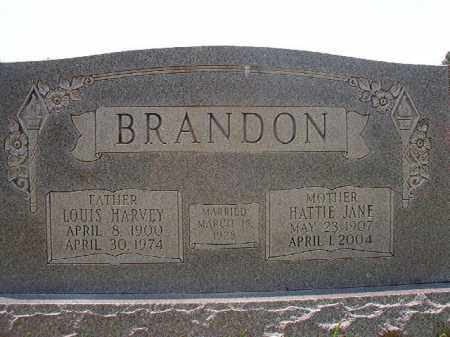 BRANDON, LOUIS HARVEY - Calhoun County, Arkansas | LOUIS HARVEY BRANDON - Arkansas Gravestone Photos