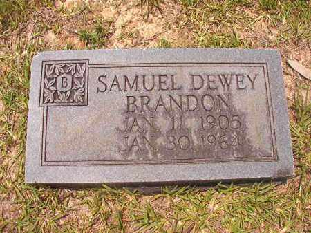 BRANDON, SAMUEL DEWEY - Calhoun County, Arkansas | SAMUEL DEWEY BRANDON - Arkansas Gravestone Photos