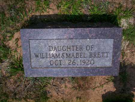 BRETT, DAUGHTER - Calhoun County, Arkansas | DAUGHTER BRETT - Arkansas Gravestone Photos