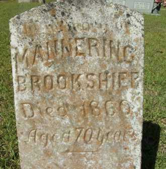 BROOKSHIER, MANNERING - Calhoun County, Arkansas | MANNERING BROOKSHIER - Arkansas Gravestone Photos