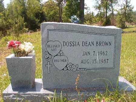 DEAN BROWN, DOSSIA - Calhoun County, Arkansas | DOSSIA DEAN BROWN - Arkansas Gravestone Photos